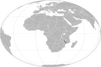 Malawi Location in World Map