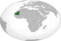 Mauritania Location in World Map