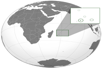 Mauritius Location in World Map