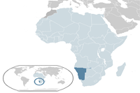 Namibia Location in World Map