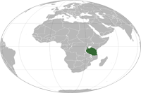 Tanzania Location in World Map