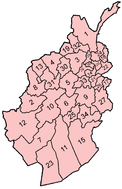Afghanistan Administrative divisions