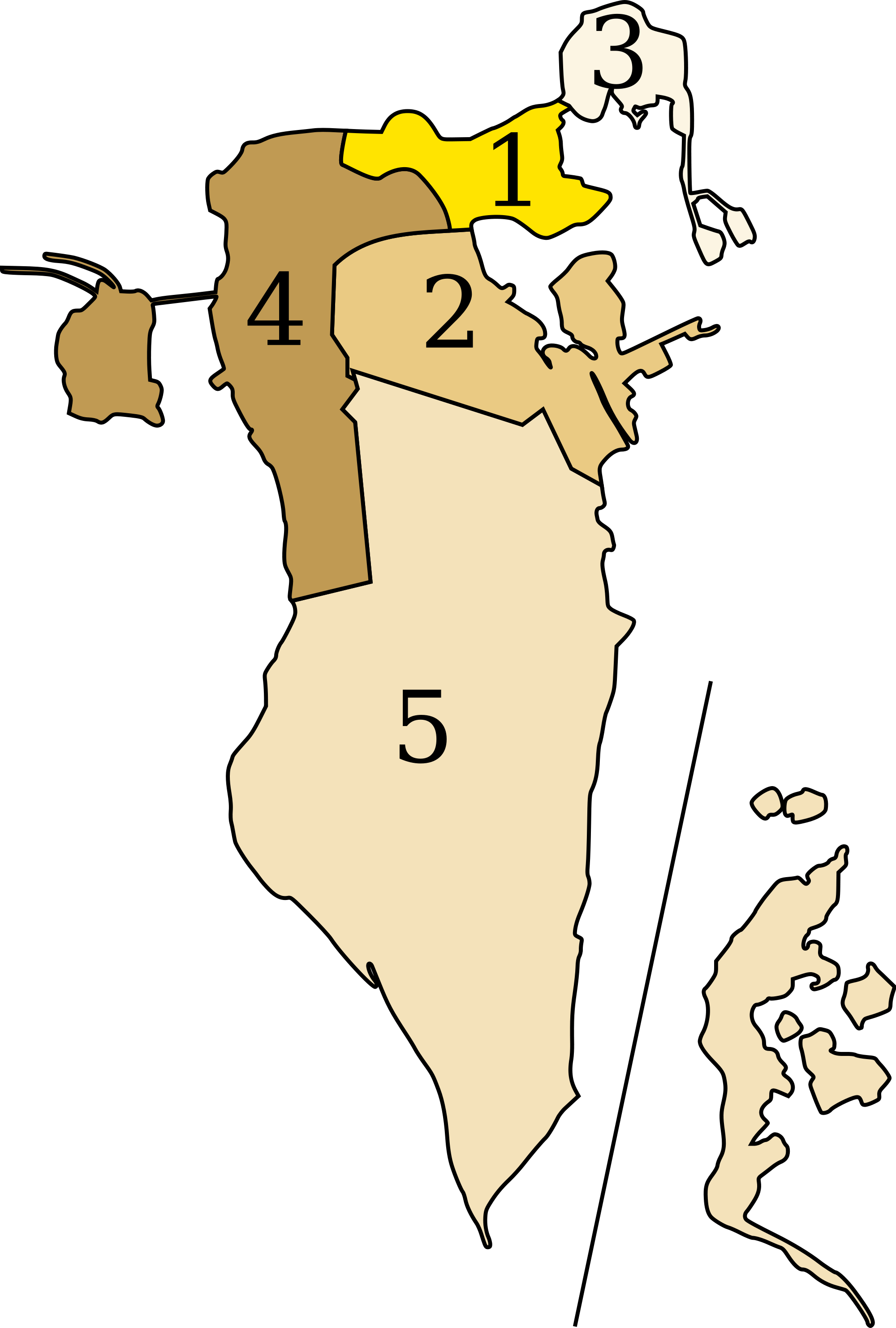Bahrain Administrative divisions Map