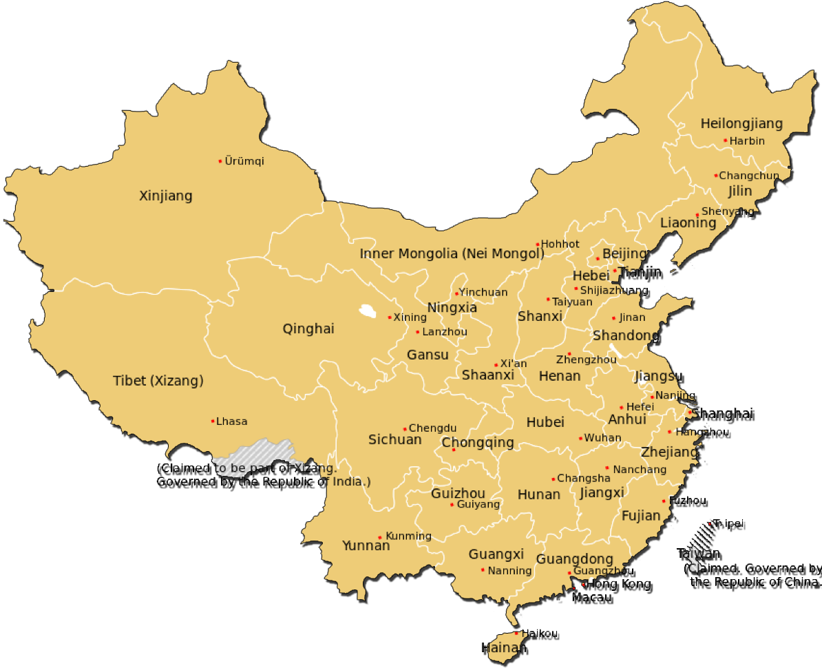 China Administrative divisions Map
