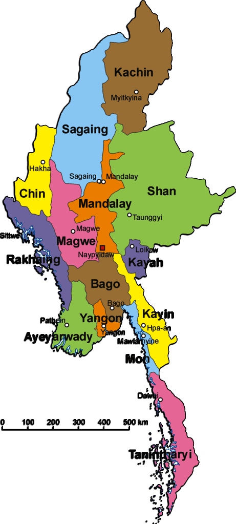 Myanmar States And Divisions Pictures to pin on Pinterest