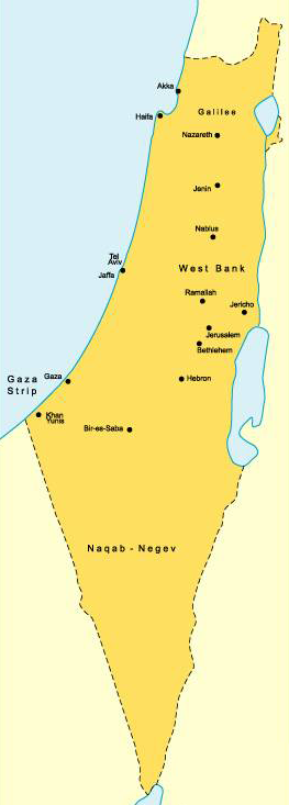 Palestine Administrative divisions Map