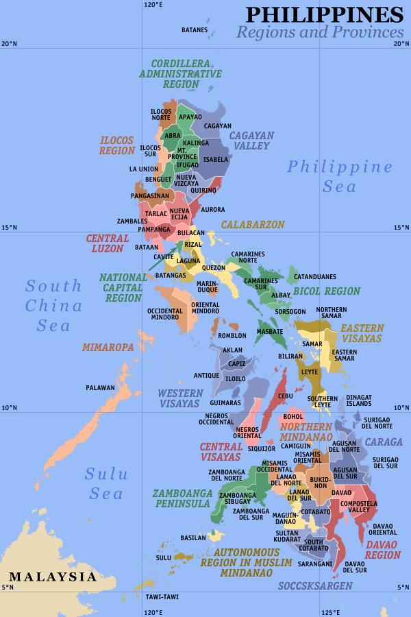 Philippines Administrative divisions Map