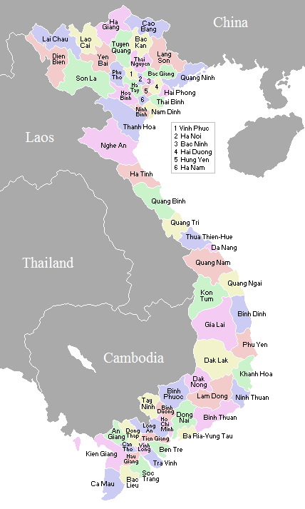 Vietnam Administrative divisions Map
