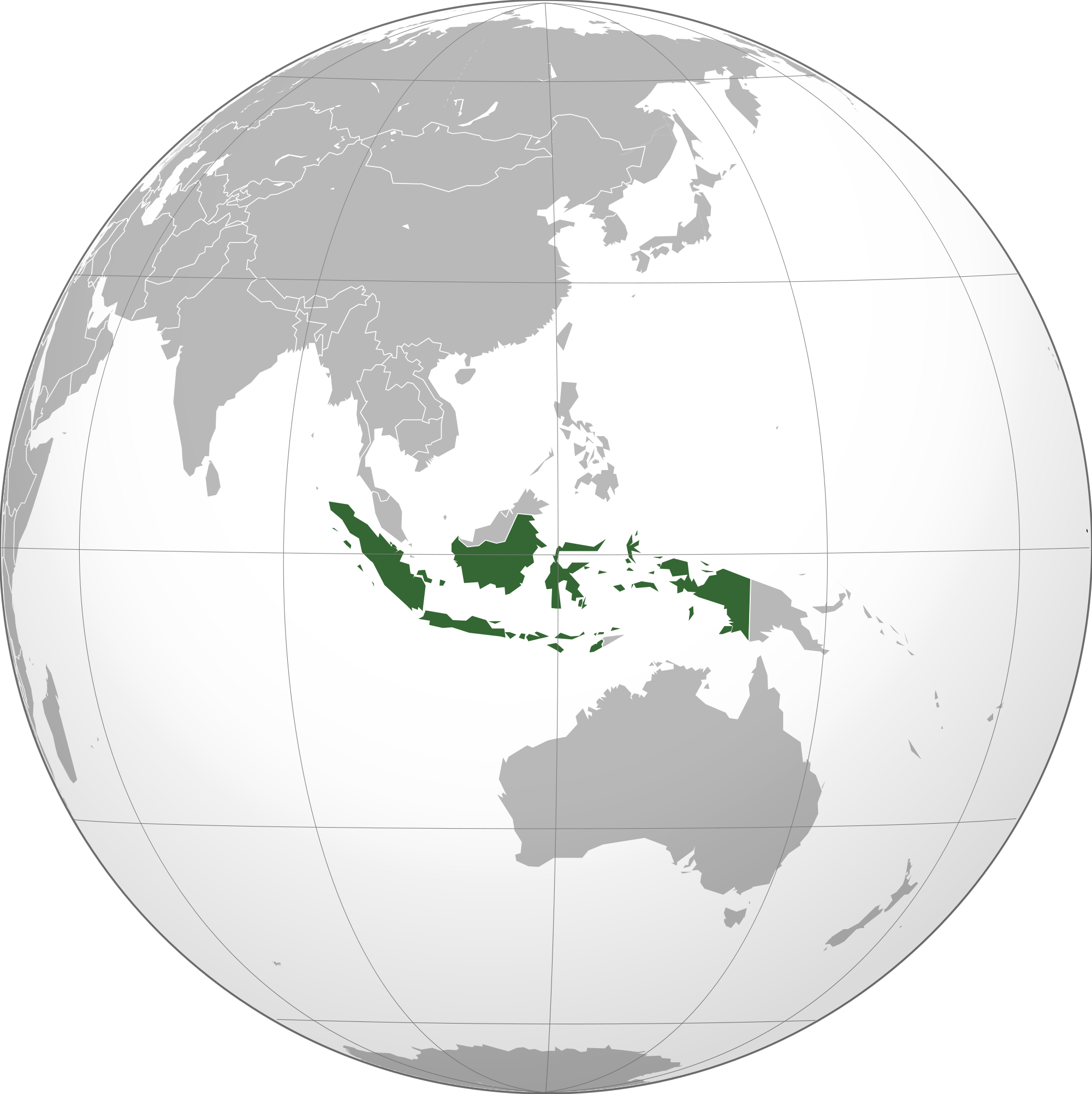 Location of the Indonesia in the World Map