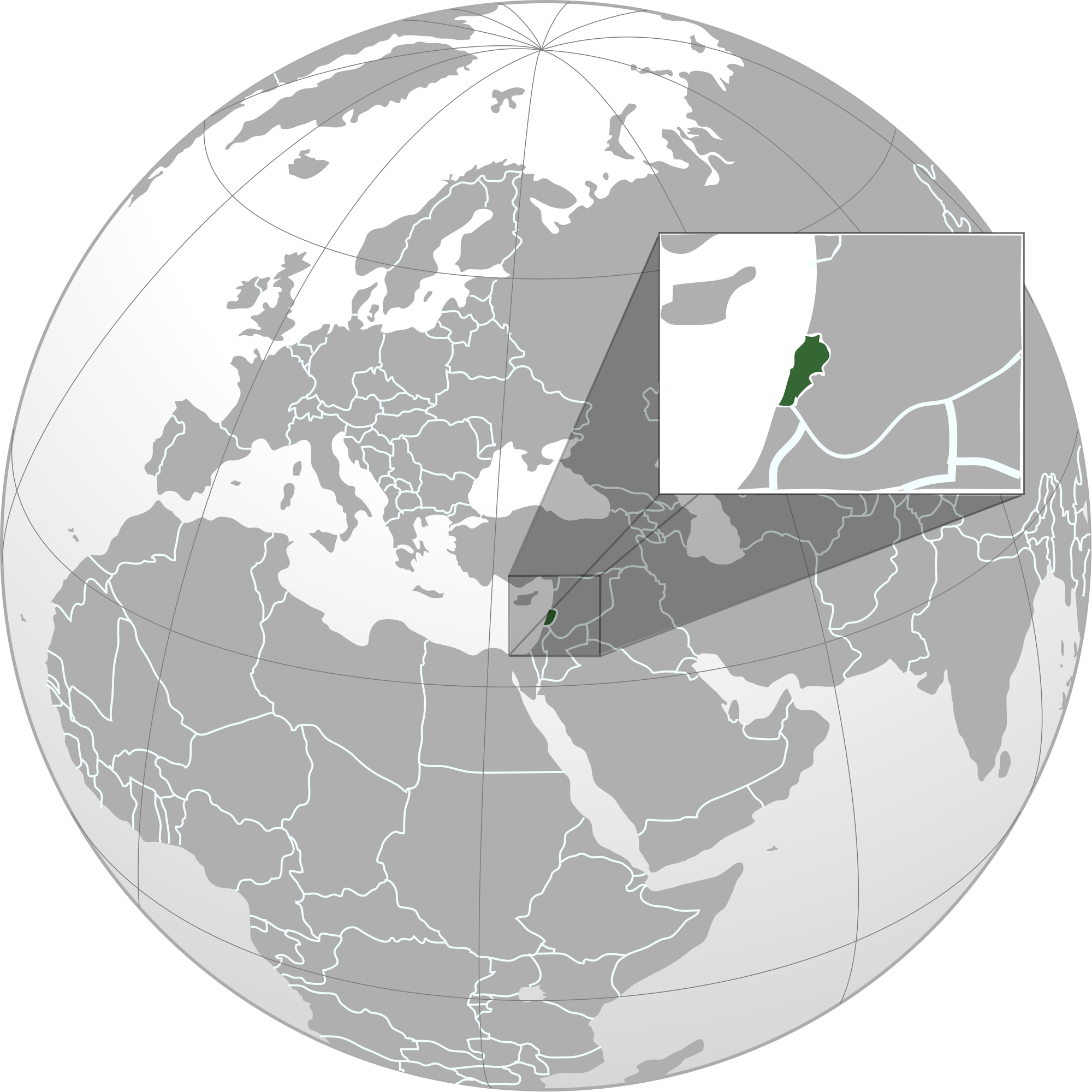 Location of the lebanon in the world map lebanon map sciox Gallery