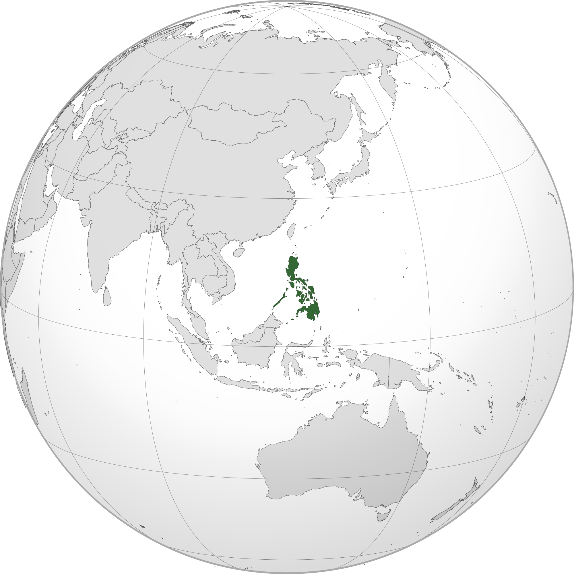Location Of The Philippines In The World Map
