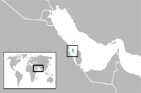 Bahrain Location in World Map