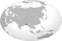 Bangladesh Location in World Map