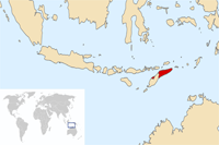 East Timor Location in World Map