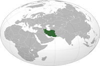 Iran Location in World Map