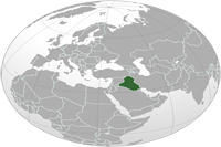 Iraq Location in World Map