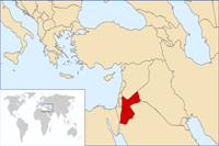 Jordan Location in World Map