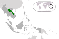 Laos Location in World Map