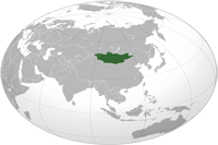 Mongolia Location in World Map