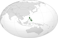 Philippines Location in World Map