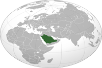 Saudi Arabia Location in World Map