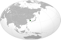 South Korea Location in World Map