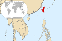 Taiwan Location in World Map