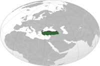 Turkey Location in World Map