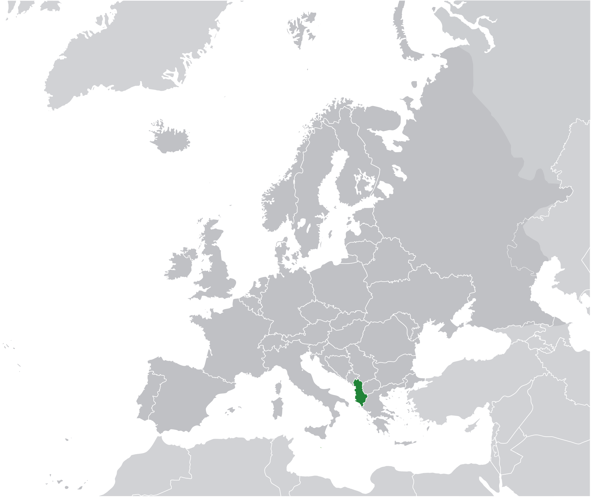 Location Of The Albania In The World Map