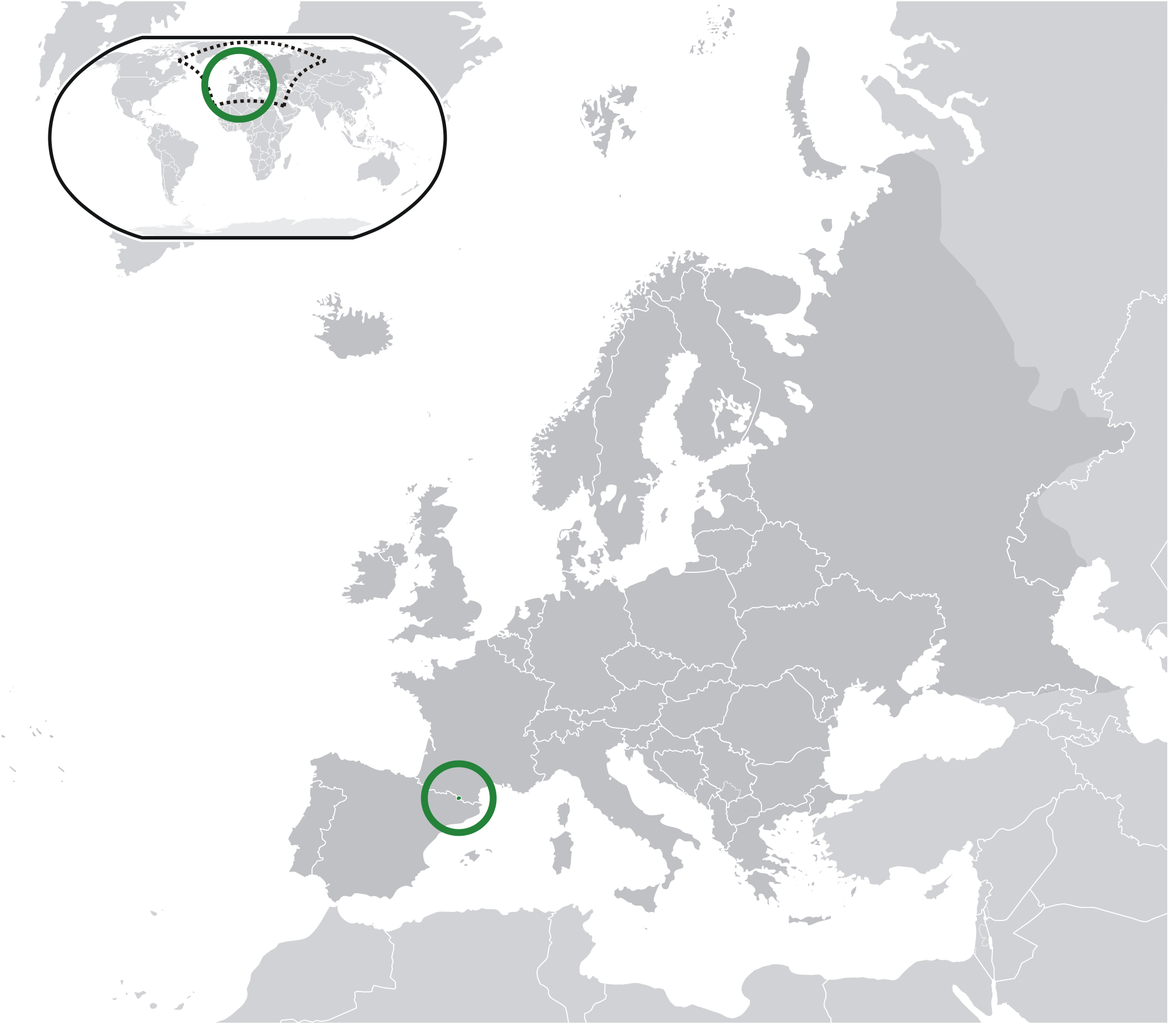 Location Of The Andorra In The World Map