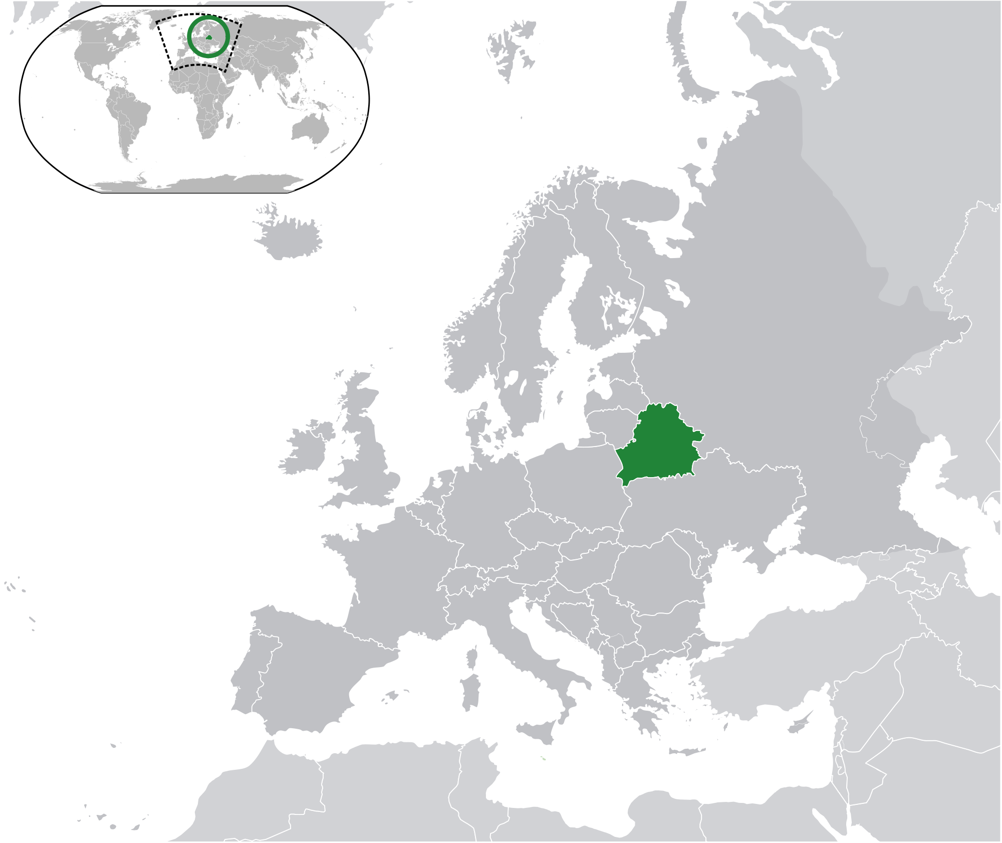 Location Of The Belarus In The World Map