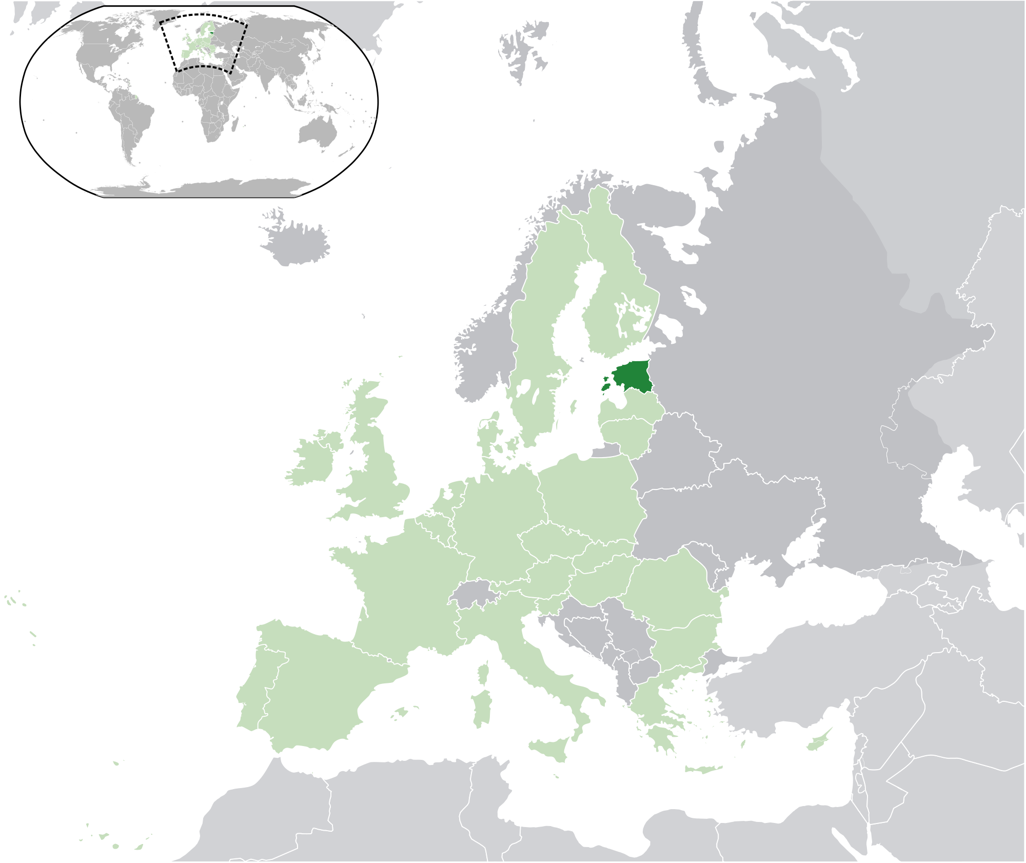 Location Of The Estonia In The World Map