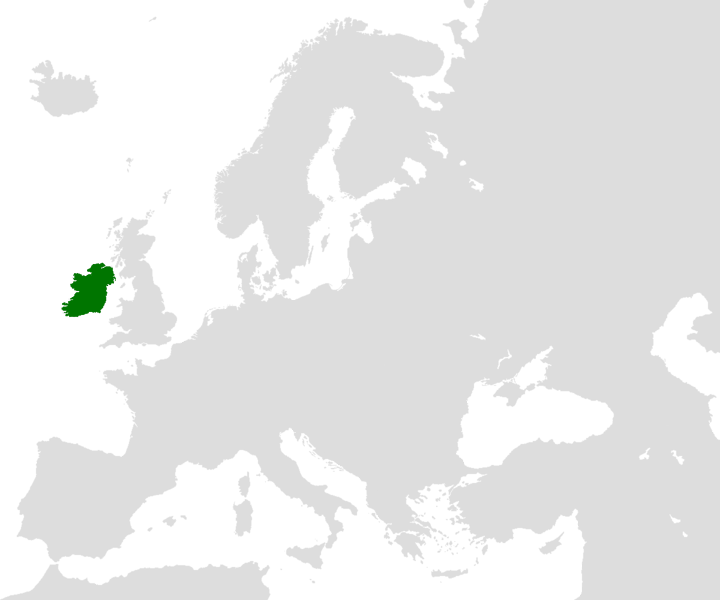 Location of the Ireland in the World Map