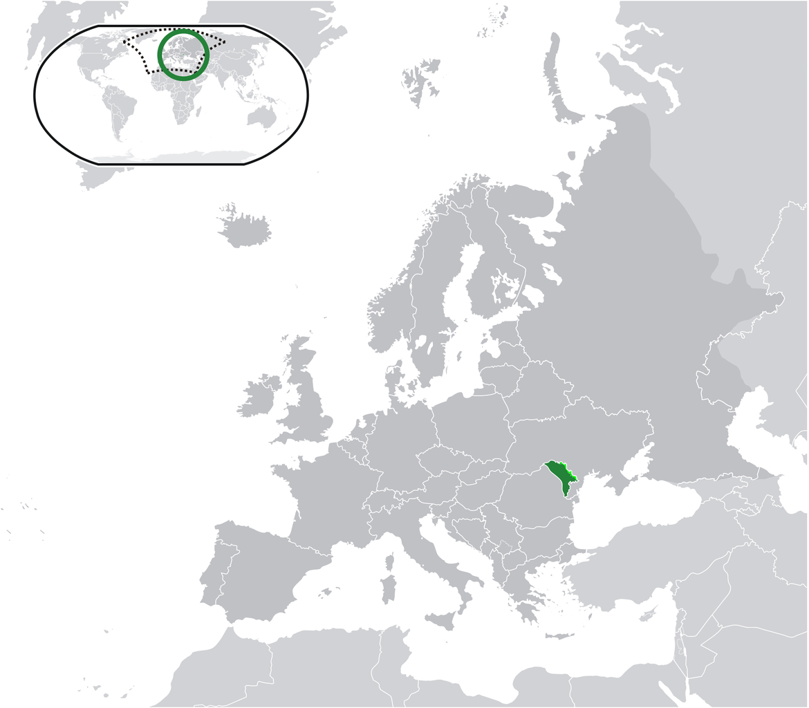 Location of the Moldova in the World Map