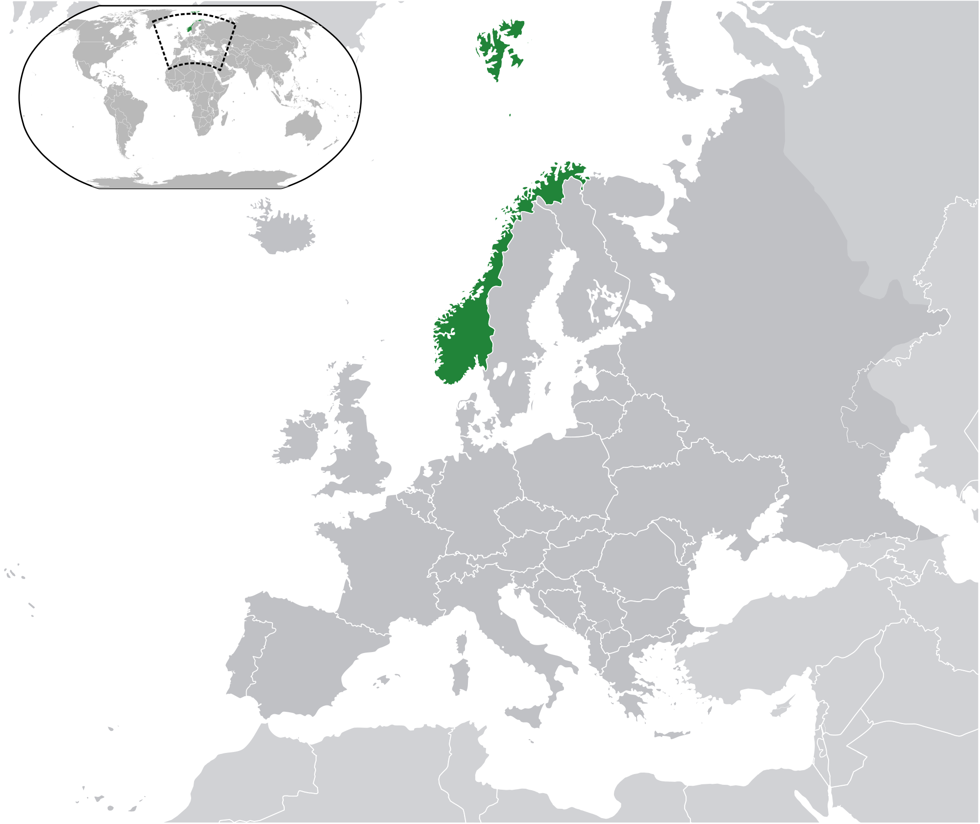 Location Of The Norway In The World Map - Norway map world