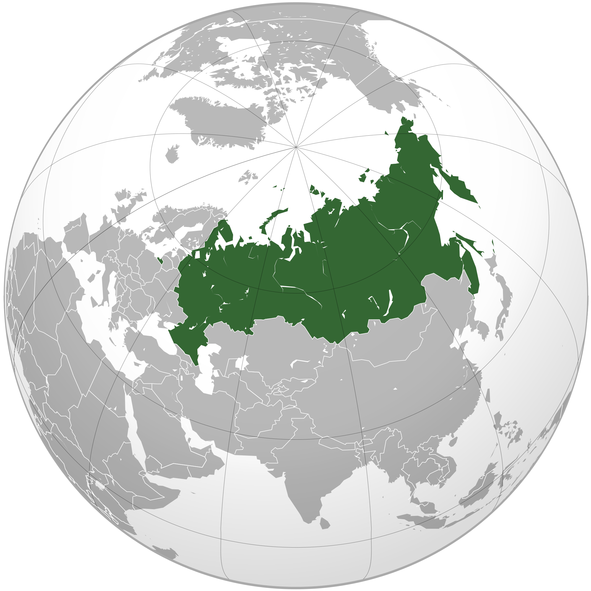 Location of the Russia in the World Map