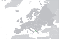 Albania Location in World Map