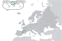 Andorra Location in World Map
