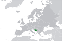 Bosnia and Herzegovina Location in World Map