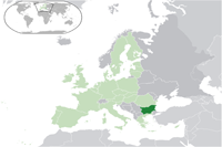 Bulgaria Location in World Map