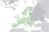Estonia Location in World Map