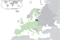 Lithuania Location in World Map