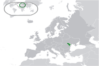 Moldova Location in World Map