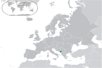 Montenegro Location in World Map