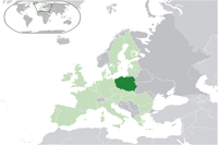 Poland Location in World Map