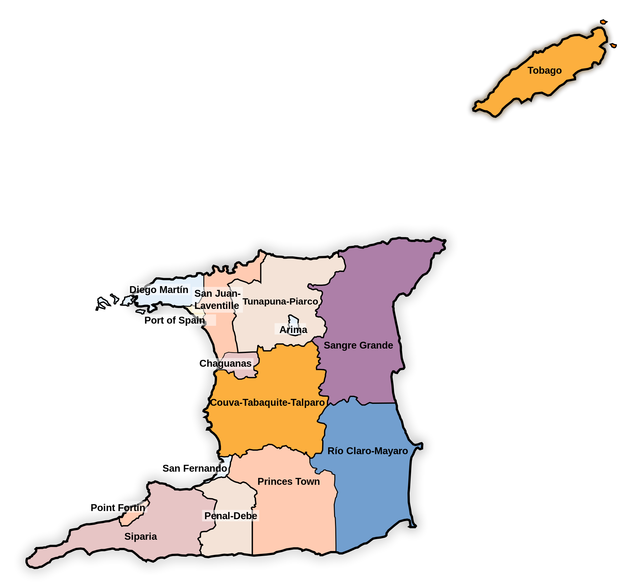 Trinidad and Tobago Administrative divisions