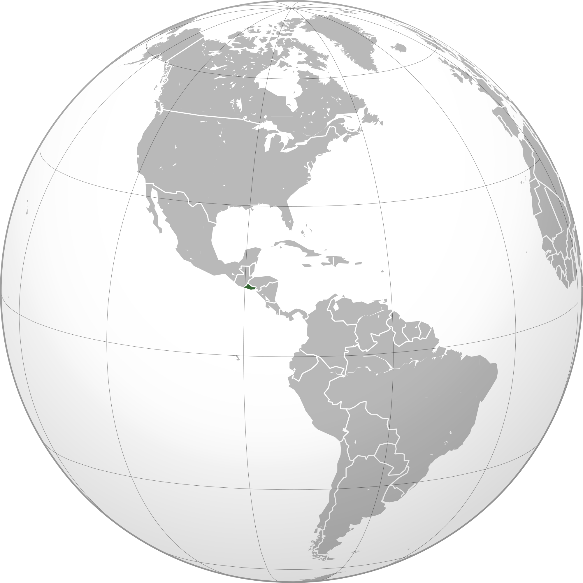 Location Of The El Salvador In The World Map - El salvador earth map