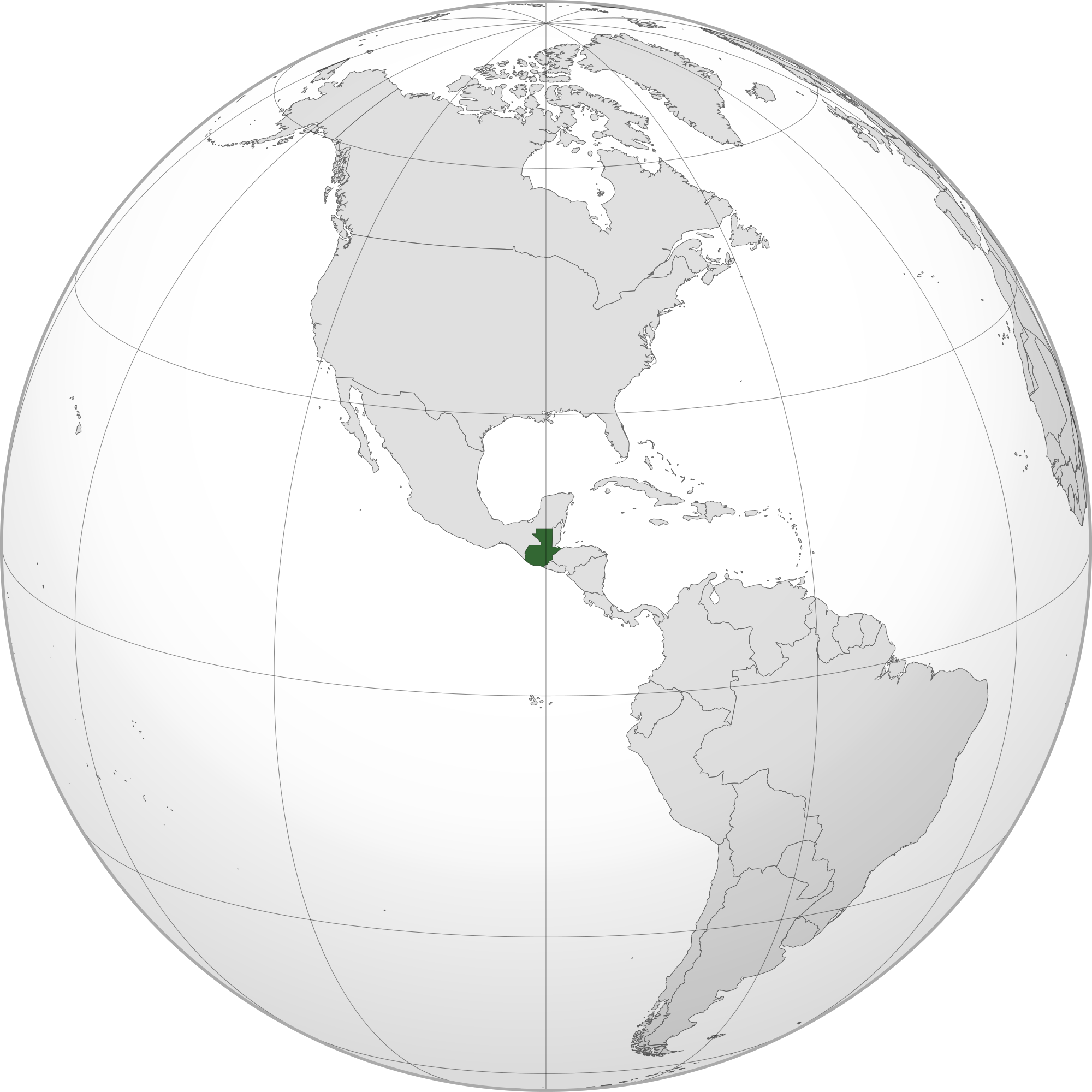Location of the Guatemala in the World Map
