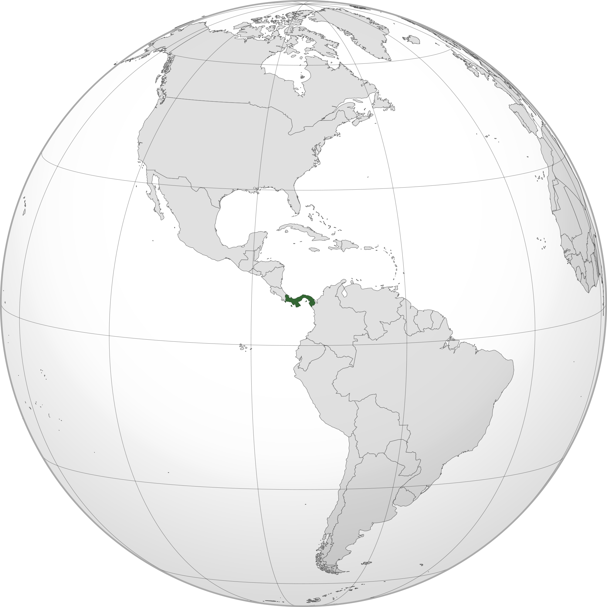 Location Of The Panama In The World Map - World map panama