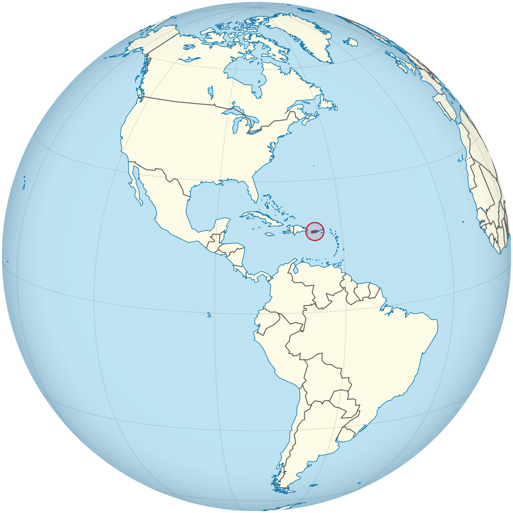 Location Of The Puerto Rico In The World Map